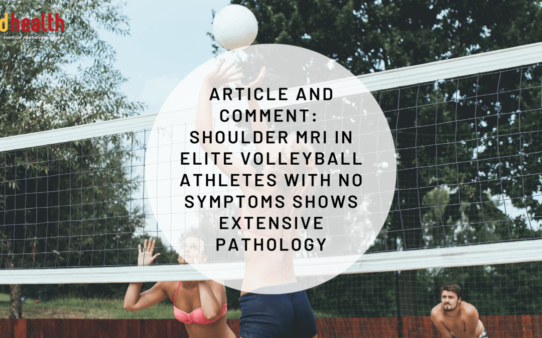 Article and Comment – Shoulder MRI in elite volleyball athletes with no symptoms shows extensive pathology