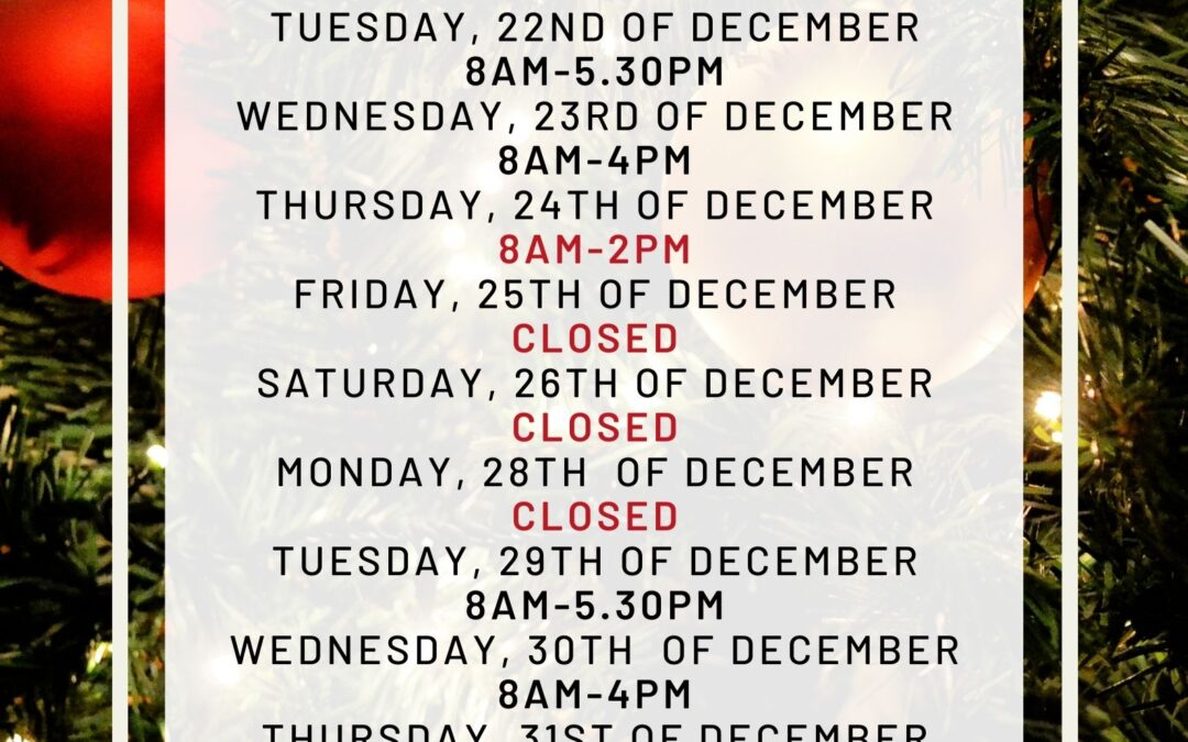 MD Health Christmas Opening Hours-Doncaster East