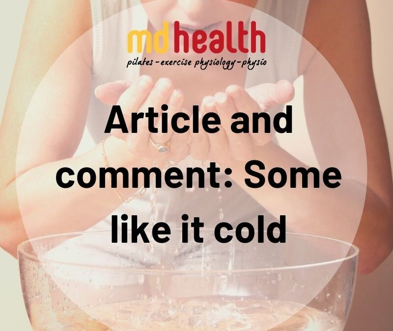 Article and comment: Some like it cold
